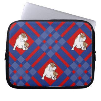 Plaid Bulldog Laptop Sleeve