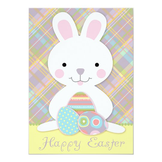 Plaid Bunny Card