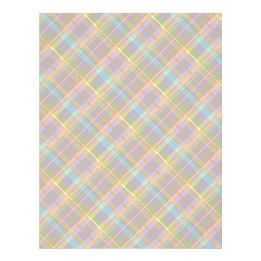 Plaid Bunny Dual-sided Scrapbook Paper A2 Full Color Flyer