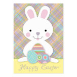 Plaid Bunny Gift Tag Business Cards