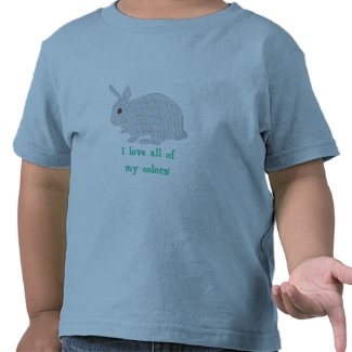 Plaid Bunny, I love all of my colors, affirm tees