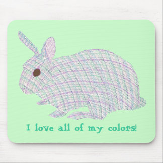 Plaid Bunny,  I love all of my colors, mousepads