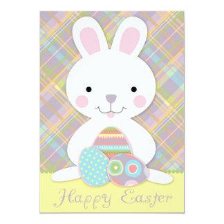 Plaid Bunny Invitation Card