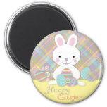 Plaid Bunny Magnet R