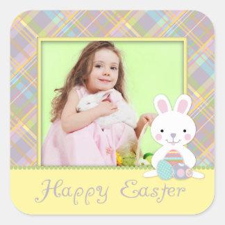 Plaid Bunny Photo Sticker S