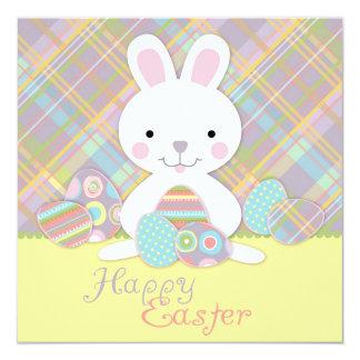 Plaid Bunny Square 2 Card