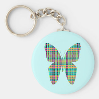 plaid butterfly keychain