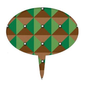 Plaid Button pattern Cake Picks