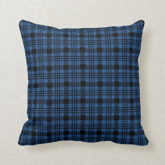 Plaid Check Design | Changeable Background Color Throw Pillow