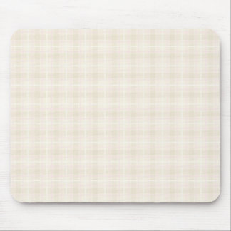 Plaid Check Pattern in Pale Pink and Beige Mouse Pad