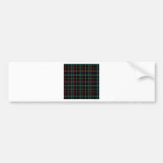 Plaid Checks Design Bumper Sticker