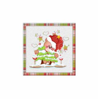 Plaid Christmas Bear Cutout