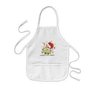 Plaid Christmas Bear Kids' Apron