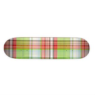 Plaid Christmas Bear Skateboard Deck
