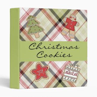 Plaid Christmas Cookie Recipe Binder