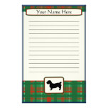 Plaid Christmas Glen of Imaal Terrier Stationery