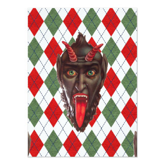 plaid christmas krampus card