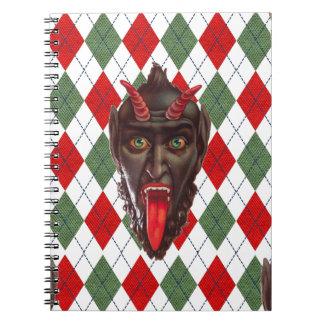 plaid christmas krampus notebook