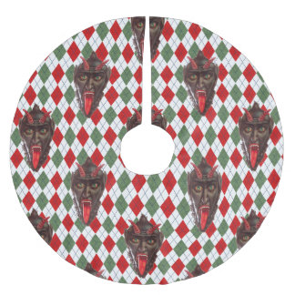 plaid christmas krampus xmas tree skirt