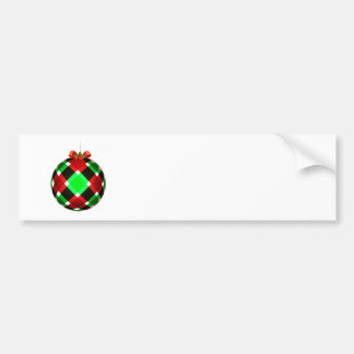 Plaid Christmas Ornament w/Red Bow Bumper Stickers