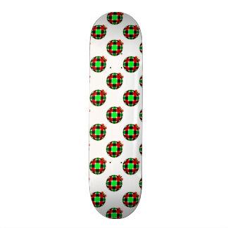 Plaid Christmas Ornament w/Red Bow Skateboard Deck