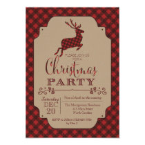 Plaid Christmas Party Holiday Invitation