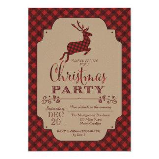 Plaid Christmas Party Holiday Invitation