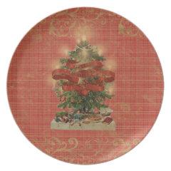 Plaid Christmas Party Plates