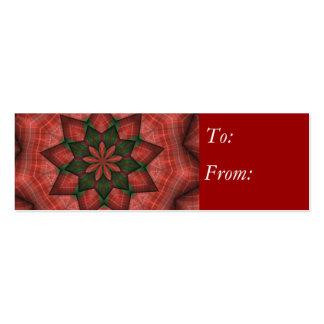 Plaid Christmas Star Mini Business Card