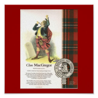 Plaid Clan MacGregor on Canvas Poster