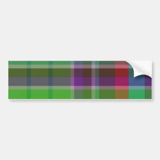 Plaid Colorful Bumper Stickers