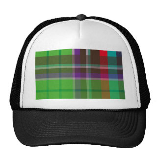 Plaid Colorful Trucker Hat