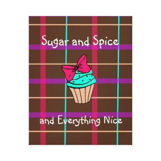 Plaid Cupcake Canvas
