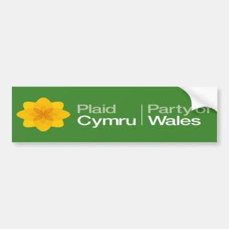Plaid Cymru Party of Wales Bumper Sticker