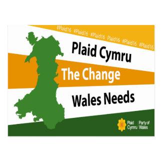 Plaid Cymru The Change Wales Needs Postcard
