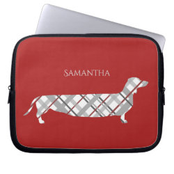 Neoprene Laptop Sleeve 10 inch with Dachshund Phone Cases design