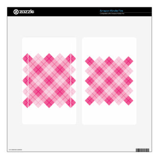 Plaid Design in Pink Skins For Kindle Fire