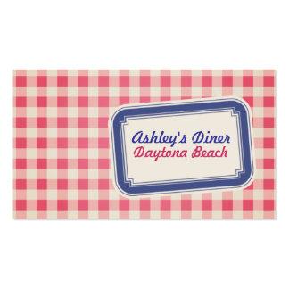 Plaid Diner Business Card
