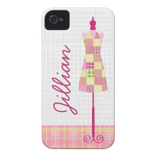 Plaid Dress Form iPhone 4 Case-Mate Barely There™