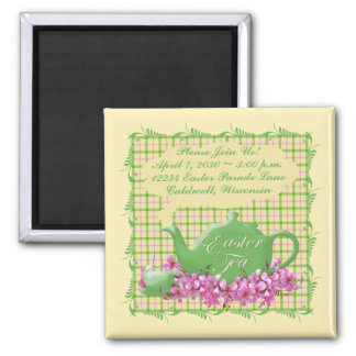 Plaid Easter Tea Save The Date Magnet