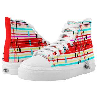 Plaid Etc. High-Top Sneakers