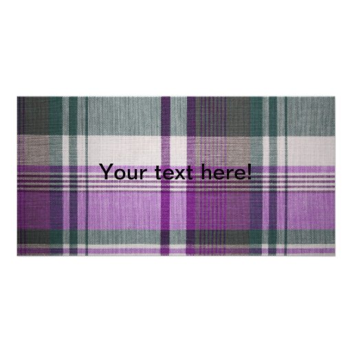 Plaid fabric texture picture card