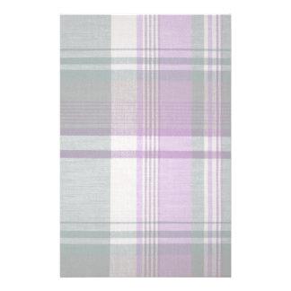 Plaid fabric texture stationery