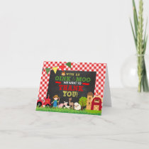 Plaid Farm Birthday Thank you Note