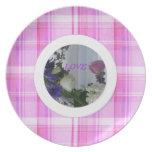 Plaid & Floral Wedding Plate