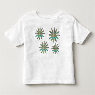 plaid flowers toddler t-shirt