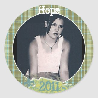 Plaid Graduation or Sweet Sixteen Photo Stickers sticker
