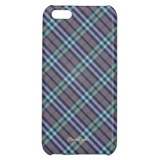Plaid Gray Blue Green Pattern Savvy Case For iPhone 5C