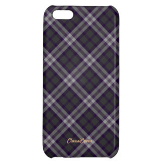 Plaid Gray Purple Pattern Savvy Case For iPhone 5C