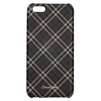 Plaid Gray Red White Pattern Savvy iPhone 5C Cover
